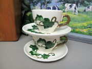 Metlox Poppy Trail California Ivy Cups And Saucers Two C. 1948-1986 B