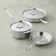 All-clad 6000-5 Ss Copper Core 5-ply Bonded Dishwasher Safe 5 Piece Cookware Set