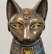Ancient Egyptian Cat Bastet Deity Statue Figurine Condition Good From Japan 1e