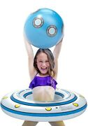 Inflatable Pool Float Floatie Ufo Pool Tube Ring For Kids With Detachable Ball
