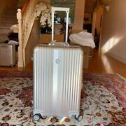 Mercedes Benz Suitcase Silver 49.5x32x76 Original Carrycase Luggage From Japan