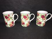 Royal Albert Old Country Roses Chintz Style Coffee Mugs Lot X 3 Afternoon Tea Ii