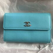 Very Rare  Flap Midi Wallet 19ss Turquoise Blue Unused Very Cute