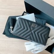 Very Rare  Long Wallet Leather Black Color Unused Very Cute
