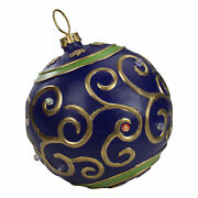 Northlight 12 Blue Gold Large Christmas Ball Ornament Tabletop Led Decoration