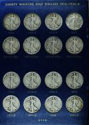 Complete 65 Coin Set Walking Liberty Half Dollars G - Au Condition 1916 - 1947