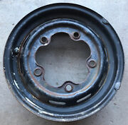 Vintage 5-hole Volkswagon Vw Wheel Rim Pitting Surface Rust 15andrdquo One Bend Back