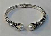 Konstantino Sterling Silver And 18k Gold Bracelet Pearl Wow Beautiful  M