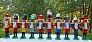 German Steinbach Nutcrackers Original Kingand039s Court Complete Set Of 10 Full Size
