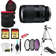 Tamron 28-200mm For Sony E F/2.8-5.6 Di Iii Rxd Lens With 2x 64gb Memory Card +