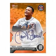 2021 Mlb Topps Now Card 691a On-card Auto Orange /5 Miguel Cabrera Hits 500th Hr