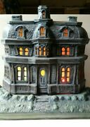 🎃 Vintage Ceramic Large Lighted And Glowing Halloween Haunted House - 1985 👻