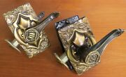 Vtg. Pair Of Amerock Carriage House Locking Lever Door Set With Latch Assembly