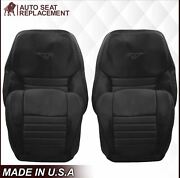 1999 - 2004 Ford Mustang Coupe Convertible Leather Replacement Seat Cover Black