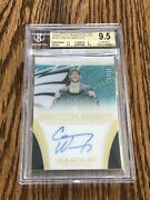 2016 Immaculate Carson Wentz Moments 11/15 Jersey Number Rc Auto Bgs 9.5 Pop 1