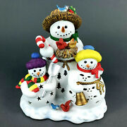 Partylite Snowman Tealight Candle Holder Retired Snowbell Holiday Christmas 7702