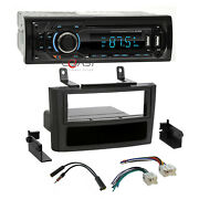Concept Usb Sd Mp3 Bluetooth Stereo Dash Kit Harness For 2000-03 Nissan Maxima
