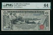 Ac Fr 224 1896 1 Silver Certificate Pmg 64 Comment... Educational