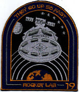 Rocket Lab 19th Electron They Go Up So Fast Space Embroidered Patch