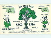 Pre-1980 Radio Card - Slatington By Walnutport And Bowmanstown And Emerald Pa Ah0441