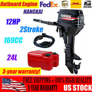 Hangkai 12hp Outboard Motor Marine Boat Engine 2 Stroke Water Cooling 169cc A+