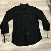 Menandrsquos Paul Smith Black Classic Fit Shirt 16.5andrdquo Striped Inner Cuff