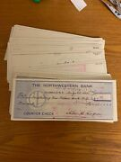 74 1960-65 The Northwestern Bank Taylorsville Nc Cancelled Check Lot B