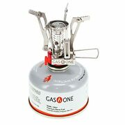 Gas One Backpacking Stove With Fuel - All Season Isobutane Camping Fuel - Camp