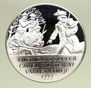 1970 United States Revolution History Valley Forge Old Proof Silver Medal I94891
