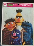 Whitman Four Friends From Sesame Street Frame-tray Puzzle 1976 7436d
