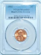 1983 Pcgs Ms66rd Fs-801 Red Ddr Double Doubled Die Reverse Lincoln Cent