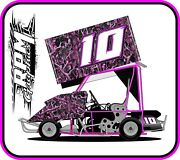 Racing Kart Qrc Outlaw Dirt Wrap Numbers - Pink Camo