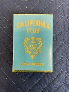 Art Deco 1920's California Club Los Angeles Playing Cards Unopened Sealed Mint