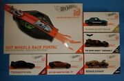 Hot Wheels Id Race Portal Smart Track System W/ Included Cars Shown. Lot Of 6