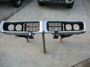 1973 1974 Dodge Charger Front Bumper Assembly With Brackets And Grills