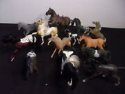 Toy Plastic Horses Lot For Sale - 13 Toy Horses