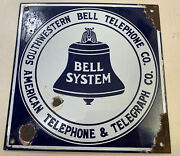 Southwestern Bell And American Telegraph Antique Porcelain Sign