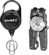 Samsfx Fishing Line Cutter With Retractable Tether, Knot Tying Tool, Tungsten