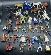 Huge Lot Of 40 Papo Knights Pirates Musketeers Dragon Horses Figures Toys