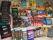 Huge Lot Of 60 Unopened Wax Packs Of Non-sports Cards Anime Movies Sci-fi