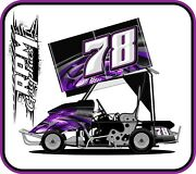 Racing Kart Qrc Outlaw Dirt Wrap Numbers - Hades