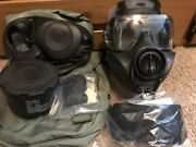 Avon Fm53 M53 Gas Mask Size Small Right Hand With Hood And Filter