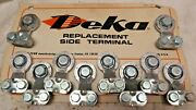 8 Pc Universal Side Mount Battery Terminal Solid Lead Oem Deka 192 Made In Usa