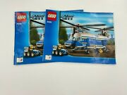 Lego City 4439 Police Helicopter Instruction Manual Books 1 And 2 Only