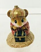 Wee Forest Folk Christmas Figurine Chris-mouse Pageant Nativity Wise Man Kneelin