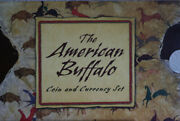 2001 American Buffalo 1 Silver Commemorative Coin Stamp And Currency Set