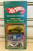 Rare Hot Wheels 1986 Christmas Stocking Stuffer 3 Pack '65 Super Cannon Weevil