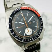 Seiko Speed Timer 6139-6032 Vintage Chronograph Automatic Mens Watch Auth Works