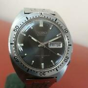 Seiko 6106-8100 Vintage Day Date Rare Diver Ss Automatic Mens Watch Auth Works