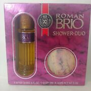 Vintage Dead Stock Roman Brio Shower-duo After Shave 4oz Soap On A Rope Gift Box